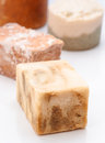 Aromatic homemade soap scent pads Royalty Free Stock Photos