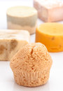 Aromatic homemade soap various pads Stock Image