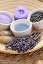 Aromatic lavender bath Royalty Free Stock Photos