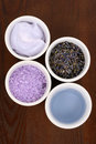 Aromatic lavender bath Stock Photo