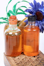 Aromatic oil bottles Royalty Free Stock Photo