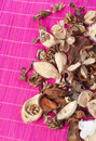 Aromatic pot pourri close up of decorative and Stock Photos