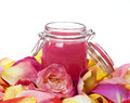 Aromatic rose water and petals Royalty Free Stock Photography