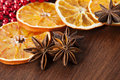 Aromatic spices as christmas decoration Stock Image