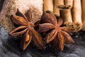 Aromatic spices with brown sugar Royalty Free Stock Images