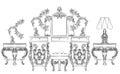 Aroque Rococo Console Table
