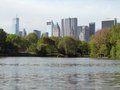 Around central park in new york idyllic scenery usa Royalty Free Stock Images