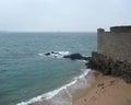 Around saint malo coastal scenery a port city in northwestern france Royalty Free Stock Image