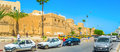 Around sfax medina tunisia september the ramparts of old surrounded by the wide roads often with traffic jams on september in Royalty Free Stock Images