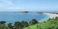 Around trebeurden idyllic coastal scenery in brittany france Royalty Free Stock Images