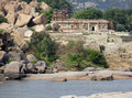 Around tungabhadra river river scenery at located in india Stock Image