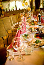 Arranged celebration table Stock Photo