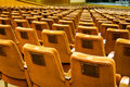 Arranged cosy seats in a amphitheater Stock Image