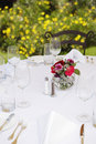 Arranged Dinning Table Royalty Free Stock Photography