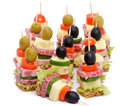 Arrangement of Canape Stock Photography