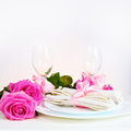 Arrangement for Romantic Dinner Stock Photography