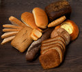 Arrangement of Various Bread Stock Photo