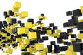 Array black yellow colored boxes Royalty Free Stock Image