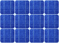 Array of blue solar panels Royalty Free Stock Photography