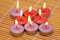 An array of candles for aromat Royalty Free Stock Images