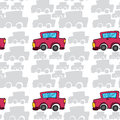 Array of cars illustration an on white background Royalty Free Stock Photography