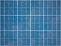 Array of Photovoltaic Solar Panels Royalty Free Stock Photography
