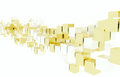 Array sliver gold colored boxes Stock Images