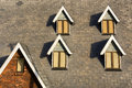 Array of windows Royalty Free Stock Photo