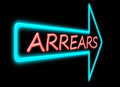 Arrears concept. Stock Photography