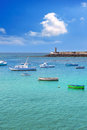 Arrecife Lanzarote boats harbour in Canaries Royalty Free Stock Photo
