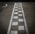 Arrival line in a motor race Royalty Free Stock Photo