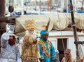 Arrival of the Magi boat Royalty Free Stock Photo