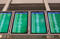 Arrivals board in Warsaw airport Royalty Free Stock Photo