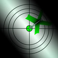 Arrow Aiming On Dartboard Showing Targeting Perfection Royalty Free Stock Image