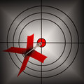 Arrow Aiming On Dartboard Shows Aiming Accuracy Royalty Free Stock Images