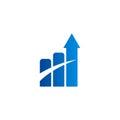 Arrow business finance chart logo
