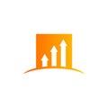 Arrow business finance chart vector logo