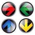 Arrow buttons left right up and down Stock Photography