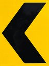 Arrow Caution Sign Royalty Free Stock Image