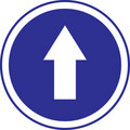 The arrow in circle blue sign Stock Photo
