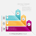 Arrow crease infographic vector illustration of flip design element Royalty Free Stock Image