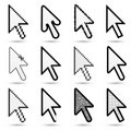 Arrow cursors Royalty Free Stock Photo