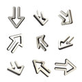 Arrow dimensional icons, set of nine positions Stock Images