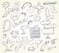 Arrow Doodles. Hand-drawn