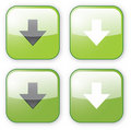 Arrow download green button icon Royalty Free Stock Photo