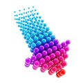 Arrow emblem icon made of spheres isolated Royalty Free Stock Photo
