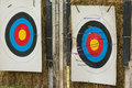 Arrow field practice target range Royalty Free Stock Images