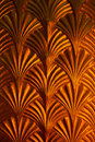Arrow golden pattern on the wall Royalty Free Stock Photo
