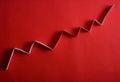 Arrow graph Royalty Free Stock Photo