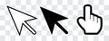 Arrow and hand cursor Royalty Free Stock Photo